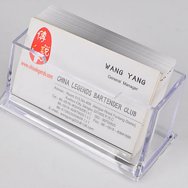 Clear plastic name card holder case business card holder for Clear plastic business card holder