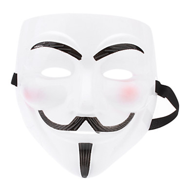 Glow-in-dark Mask of V for Vendetta (White)