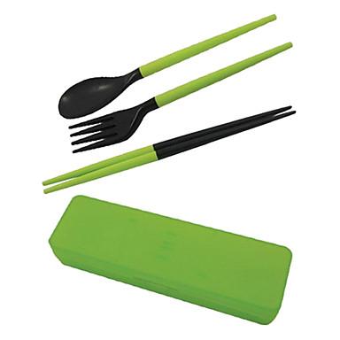 Novel Assembled Plastic Chopsticks+ Spoon+ Fork(Random Color)