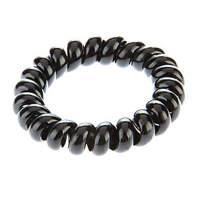 Fashion Black Plastic Hair Ties For Kids(Black)