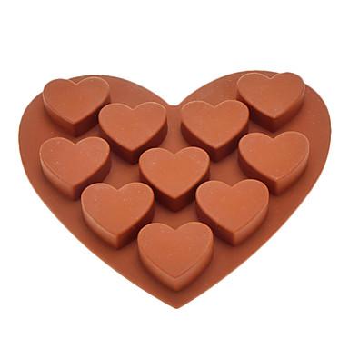 type de c ur muffin gel e de sucrerie de g teau de fondant au chocolat moule silicone de 847633. Black Bedroom Furniture Sets. Home Design Ideas