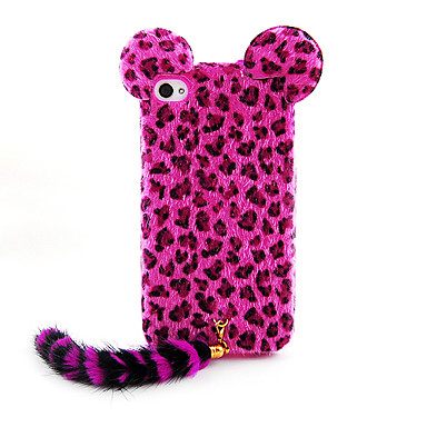beflockung leopardenmuster katze mit schwanz zur ck fall f r iphone 4 4s farbe sortiert. Black Bedroom Furniture Sets. Home Design Ideas