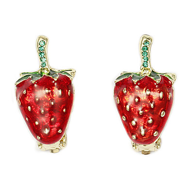 Cute strawberry-shaped Clip Earrings