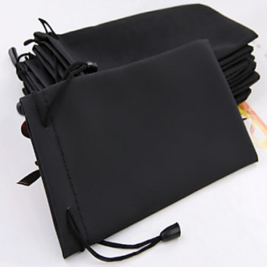 10pcs Black Sunglass Eye Glass Cloth Pouch Bag Case 7x3""