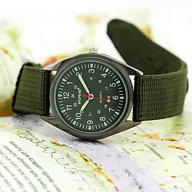 Men's Watch Military Style Water Resistant Fabric Strap Wrist Watch Cool Watch Unique Watch Fashion Watch