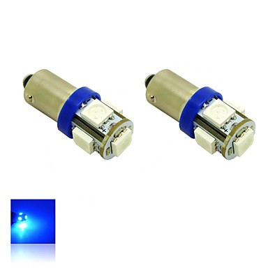 Bax9s h6w 1w 5x5050 smd blauw licht led lamp voor auto for Led autolampen
