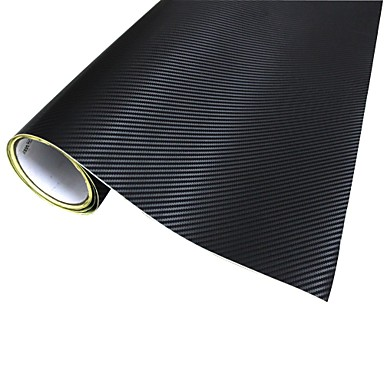 Merdia Decoration 3D PVC Carbon Fiber Film Wrap Sticker for Car- Black (50 x 20cm)