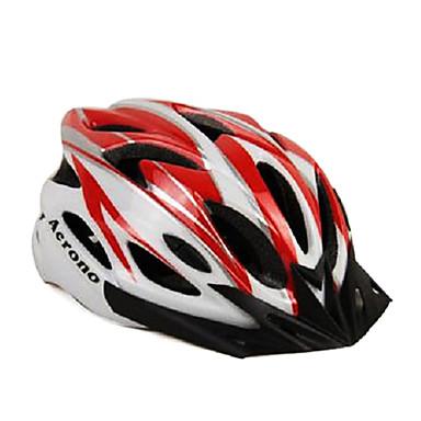 Andere Unisex Berg / Half Shell Fahrradhelm 22 Vents Radfahren Radfahren Medium: 55-59cm / Large: 59-63cm PC / EPS Weiß / Rot