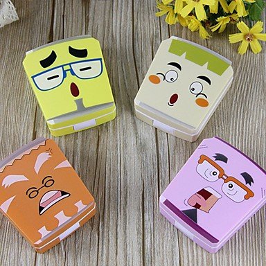 Cute Face Contact Lenses Box Random Color