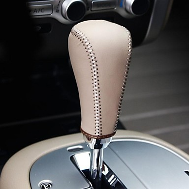 XuJi ™ Beige Genuine Leather Gear Shift Knob Cover for Nissan Murano 2011 2012 2013 Automatic