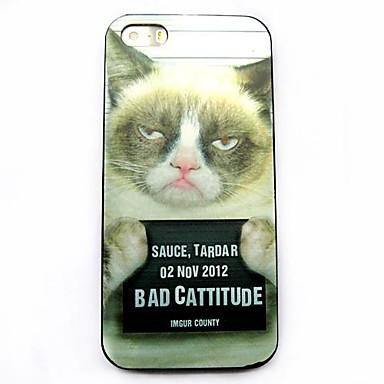 Mürrische Katze Muster Hülle für das iPhone 4 / 4S