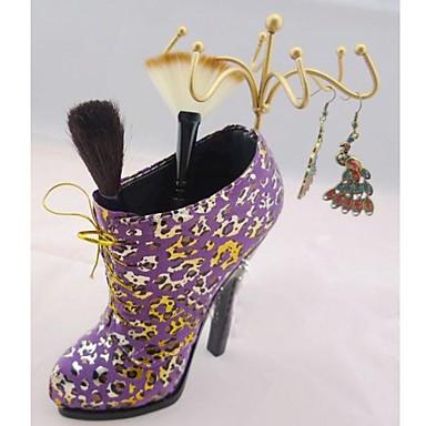 brosses cosm tiques multifonctions de forme de chaussure organisateur affichage m talliques. Black Bedroom Furniture Sets. Home Design Ideas