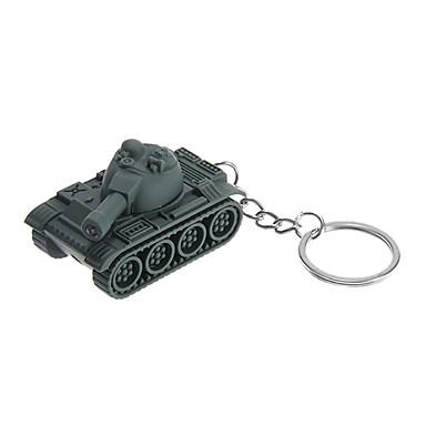 Vivid Green Tank Shape Keychain Toys