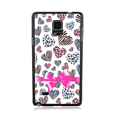 Elonbo Love and Bow Plastic Hard Back Case Cover for Samsung Galaxy Note 4