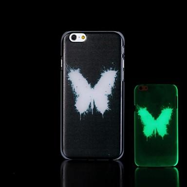 Бабочка шаблон Glow в жестком футляре темноте iPhone 6 Plus