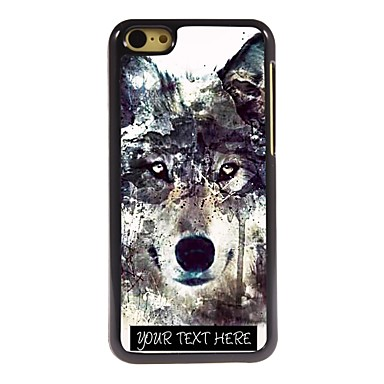 Personalized Phone Case - Iceberg Wolf Design Metal iPhone 5C