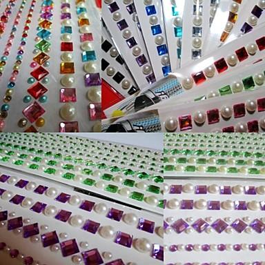 5 fogli strass set misto di colore adesivi autoadesivo - Caduta fogli di colore stampabili ...