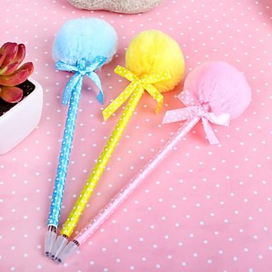 Fluffy Ball Style Gel Pen (Random Color)