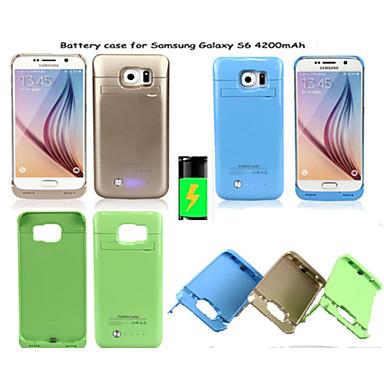 4200mAh externe bewegliche Unterstützungsbatterie-Kasten für Samsung-Galaxie-S6 (verschiedene Farben)