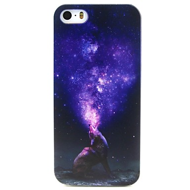 Wolf Pattern TPU Material Soft Phone Case iPhone 5/5S
