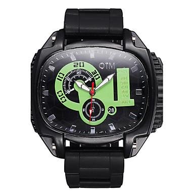 Luminous Big Dial Silicone Band Quartz Sports Watch Men Outdoor Fashion Casual Watches Boys Luxury Brand