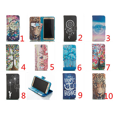 Double Sided Cartoon Pattern Leather Flip Stand Cover Mobile Phone Bags Cases For Galaxy Note 5/Note 4