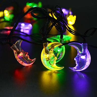 Re Ro Solari 30led Forma Luna Feste Di Natale