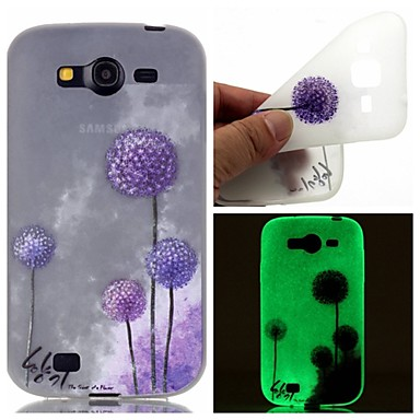 Samsung Galaxy Case Glow Dark / Pattern Back Cover Dandelion TPU SamsungOn 7 5 J3 J1 Ace Grand Prime