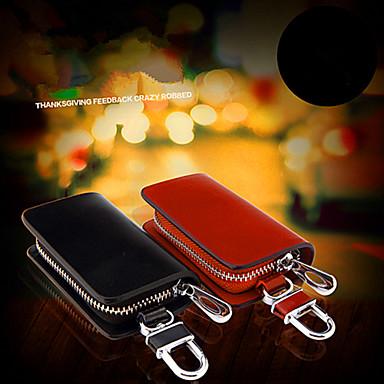 Car Key Buckle Car Supplies Genuine Leather Key Bag / Man Waist Hanging Key Sets Of General Purpose