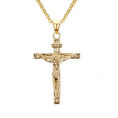 Unisex-Jesus-Kreuz-Art-Stahlanhänger für Halskette