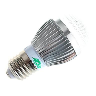 3W E26/E27 Lâmpada Redonda LED A60(A19) 10 COB 280lumens lm Branco Quente / B...