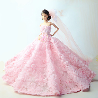wedding dresses for barbie doll pink dresses 5094117 2017