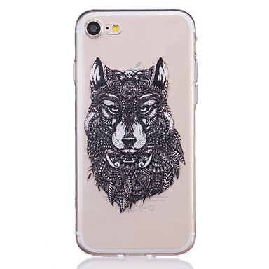 TPU Material Wolf Pattern Painted Relief Phone Case iPhone 7 Plus/7/6s Plus / 6 Plus/6S/6/SE 5s 5
