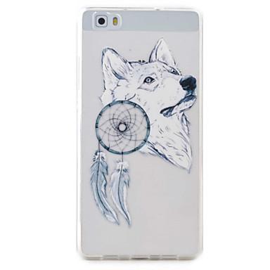White Wolf Pattern High Permeability TPU Material Phone Case Hawei P9Lite P8Lite Y5II Y6II
