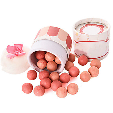 1Box Women Brand Makeup Face Powder Blush Sleek Shimmer Pink Naked Palette Blusher Ball Blush With Brush
