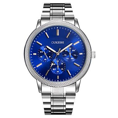 XU Men's Luxurious Elegant Quartz Alloy Steel Belt Business Large Dial Wrist Watch Dress Watch