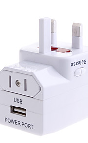 Viagens universal adaptador de corrente alternada com porta USB Power