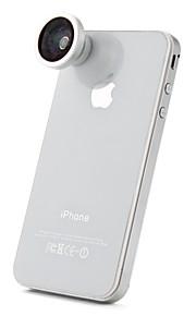 180 graders fisheye lins för iphone 4, 4S, den nya iPad och Samsung i9220 (blå film)