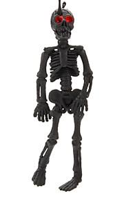 plast fleksible skelet nøglering (assorterede farver)