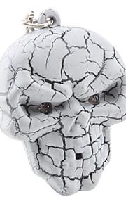 Halloween Skull nøglering med lys og lyd Effect (Random Color)