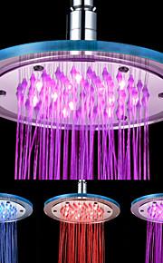 8-tommers 12-LED Round akryl Ceiling Shower Head (Assorterte farger)
