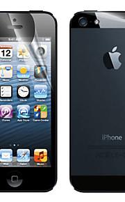 Anti-Glans Displayskydd för fram och bak på iPhone 5 - Med rengöringsduk