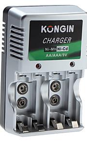 Kongin Lader voor Ni-Mh Ni-Cd AA AAA 9v batterij