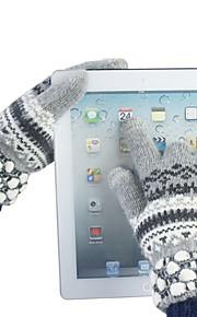 Flicka färgstark design Ylle Touch Handskar (Blandade färg)