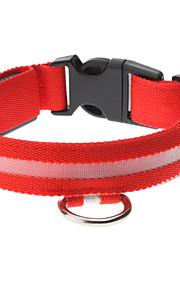 Justerbar High Quality Nylon LED Collar til hunde (Rød)