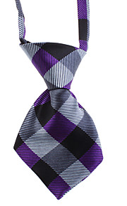 Bella Plaid Pattern Tie Neck per Animali Cani Gatti (Collo: 26-38cm)