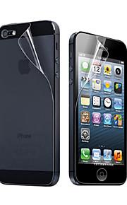 12X Rensa Front och Back Skärmskydd för iPhone 5
