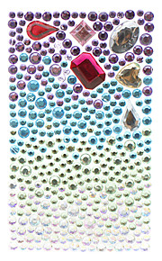 Graduated Color with Various Shaped Crystals Jewelry Protective Body Sticker for Cellphone
