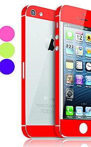 Solid Color Skin Guard med Transparent Back Protector för iPhone 5 (valfri färg)