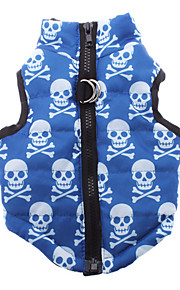 Dog Coat / Vest Blue Winter Skulls